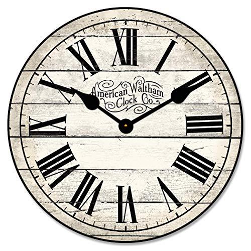 None Brand American Waltham - Reloj de pared, color marfil