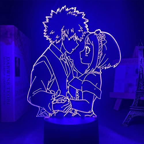 LED 3D de acrílico de la noche de la Anime My Hero Academia Katsuki Bakugo Figura de los niños de mesa de regalo