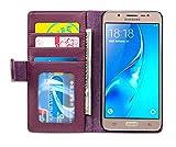 Cadorabo Funda Libro para Samsung Galaxy J5 2016 en Burdeos Violeta - Cubierta Proteccíon con Cierre Magnético e 3 Tarjeteros - Etui Case Cover Carcasa