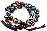 Barbra Collection Hawaiian Kukui Nut Beads Leis Necklace Hand Painted Multi-color Turtle Adjustable 32 Inches Lei for Men and Women