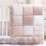 The Peanutshell Grace 4 Piece Crib Bedding Set