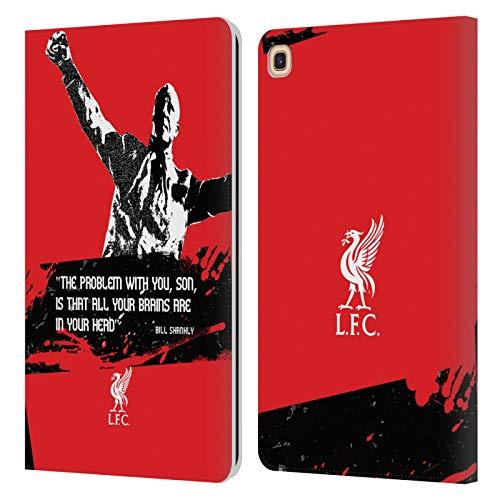 Head Case Designs Offizielle Liverpool Football Club Problem Medium Bill Shankly Zitate PU Leder Brieftaschen Huelle kompatibel mit Galaxy Tab A 8.0 & S Pen 2019