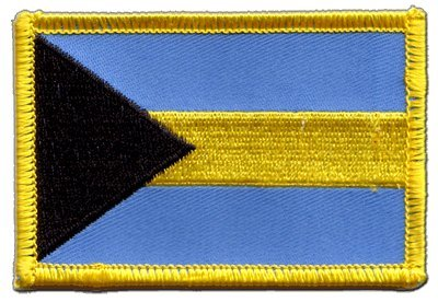 Aufnäher Patch Flagge Bahamas - 8 x 6 cm