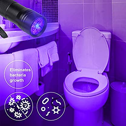 Beinhome 5 Pack UV Torch Flashlight Black Light Ultraviolet Light 12 LED Ultra Violet Blacklight Detector for Dog Urine, Pet Stains, Bed Bug, Scorpion with 5 AAA Free Batteries 6
