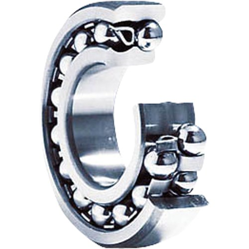 NTN Bearing 1222 Double Row Self-Aligning Radial Ball Bearing, Normal Clearance, Standard Cage, 110 mm Bore ID, 200 mm OD, 38 mm Width, Open