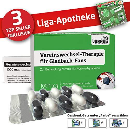 Alles für Gladbach-Fans by Ligakakao.de Gladbach Mütze ist jetzt die Liga-APOTHEKE Strickmütze schwarz-grün Logo Emblem Männer-Größe
