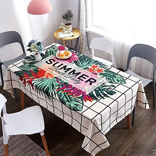 Tafelkleed, dik, waterdicht, tafelkleed, woonkamer, rechthoekige afdekking, doek, tafel, stof, salontafel, mat, koelkast, stofafdekking