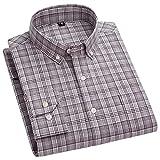 HDDFG Camisa de manga larga informal a cuadros de algodón 100% para hombre S-7XL Primavera Otoño Botón de tendencia Camisas delgadas absorbentes de sudor (Color : B, Size : 6XL code)
