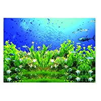 3Dポスター 水族館 水槽 魚タンク 魚飼育用 背景 貼り付け 防水 - XXL