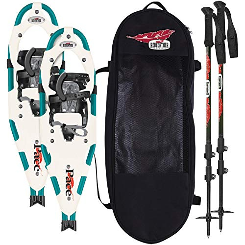 Redfeather 36 Hike Control Recreational Snowshoe Kit with Poles and Bag