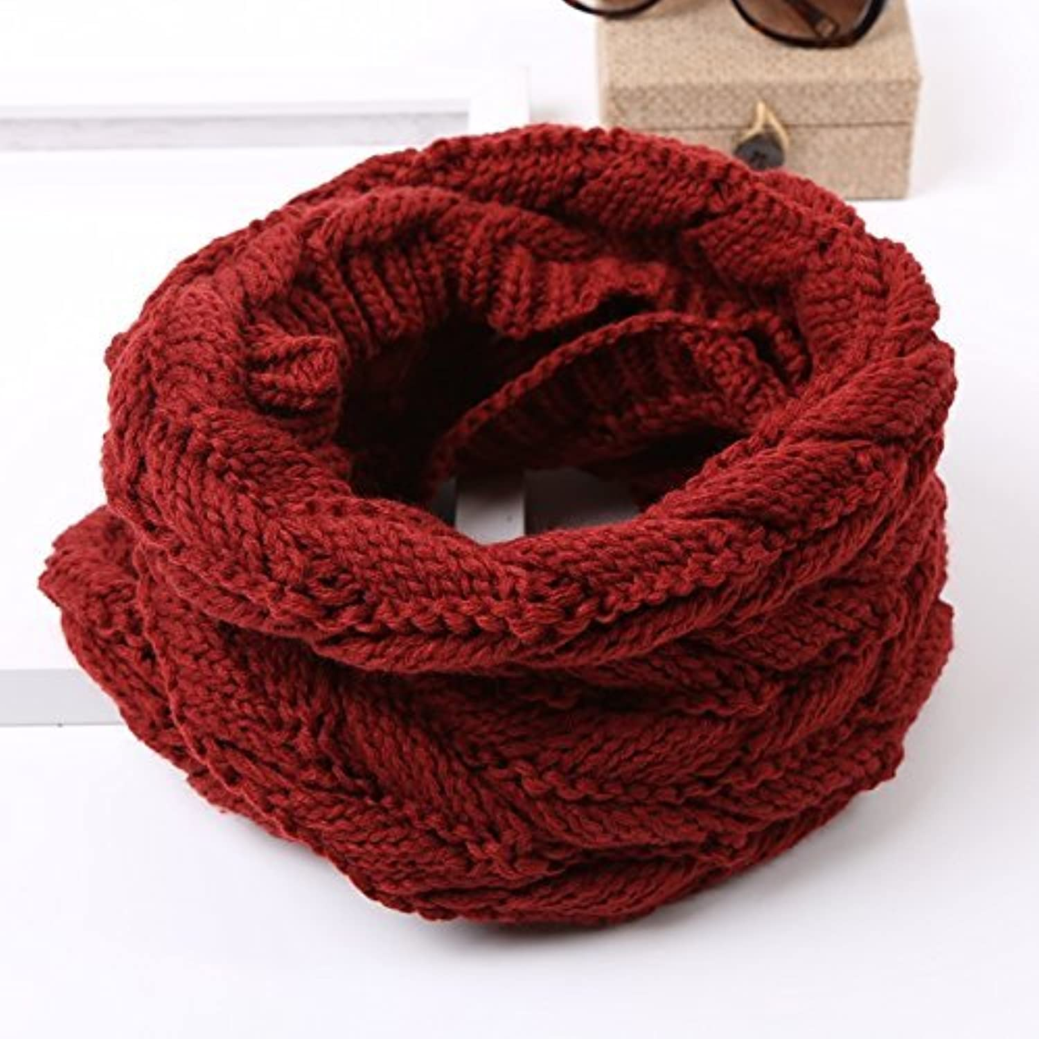 DIDIDD Men and Women Scarf Autumn and Winter Days Thick Warm Scarf Students