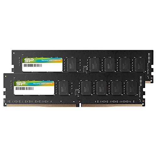 Silicon Power Arbeitsspeicher, 16 GB (2 x 8 GB), DDR4-2666 MHz, 288 Pin, CL19, 1,2 V, Non-ECC, unbuffered-UDIMM, kompatibel mit Intel Skylake-X Plattformen/Kaby Lake-X CPU Series Motherboards