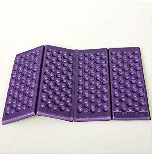 Xinhenchen 1pc Outdoor Foam Foldable Folding Seat Waterproof Chair Cushion Pad Camp Garden,Purple