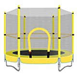 HANSHAN Gartentrampoline Trampolin, Kindertrampolin Mit Schutzgitter Great Outdoor Backyard...