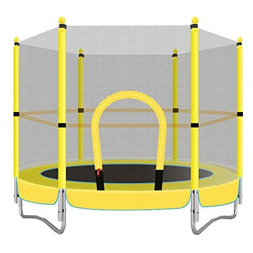 HANSHAN Gartentrampoline Trampolin, Kindertrampolin Mit Schutzgitter Great Outdoor Backyard Trampolin Gelb 59 × 51 Zoll
