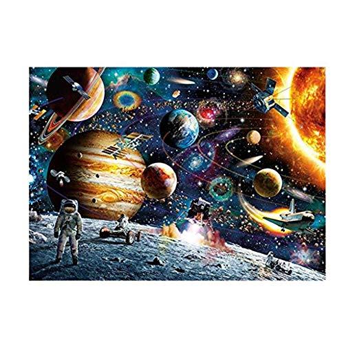 Dasongff Puzzle de 1000 piezas, clásico puzle universo planeta astronauta niño regalo cultura hogar moderno Festival DIY regalo Inteligente juego