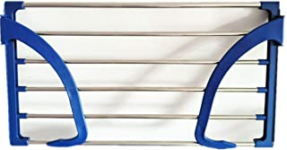 Xixuan Store Stainless Steel Folding Balcony of Shoes Rack Glass Desk Diaper Hanging Drying Rack Towel Radiators for Iraq and Frame (Color : The/6932cm)