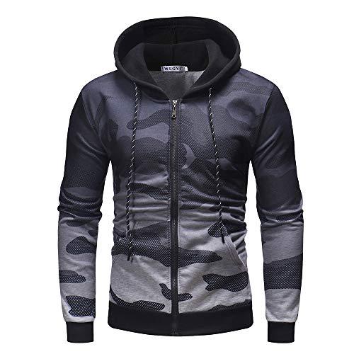 Sweatshirt Herren,SANFASHION Mens Herbst Casual Kapuzenpullover Patchwork Langarm Hoodie Pullover Top Outwear Streetwear