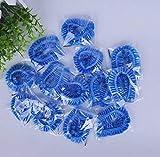 Lot de 100 bonnets de douche jetables en plastique élastique pour usage domestique, hôtel, spa, salon de coiffure