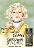 Vintage Kaffee Poster - Happiness is a Cup of Coffee - Bild