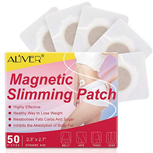 Weight Loss Sticker, Magnetic Quick Slimming Stickers, Fat Burning Abdominal Fat Away Sticker Magnets, For Beer Belly, Buckets Waist, Waist Abdominal Fat, Quick Slimming (Aliver-50)