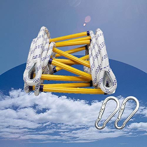 GAOWF Escalera de Cuerda, Escalera Suave de Rescate de Emergencia con Ganchos, para niños Adultos, Capacidad de Apoyo Fuerte, Resistencia al Desgaste, Peso hasta 900 Libras (Size : 5m)