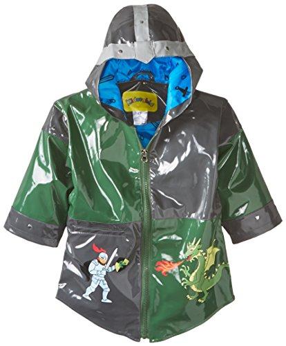 Kidorable Originele kinderregenjas, alle weersomstandigheden, waterbestendig, regenjas, ridder, draakpaard voor jongens en meisjes