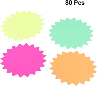 NUOBESTY 80 piezas fluorescentes venta minorista signos explosión etiqueta tienda etiqueta en blanco etiqueta de publicidad supermercado precio para venta de la tienda