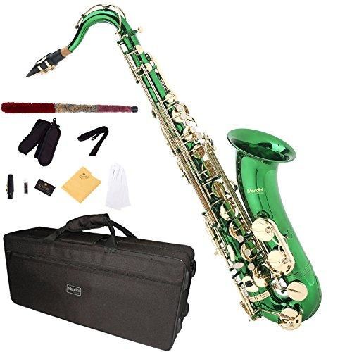 Mendini MTS-GL - Saxofón tenor (para nivel principiante), color verde