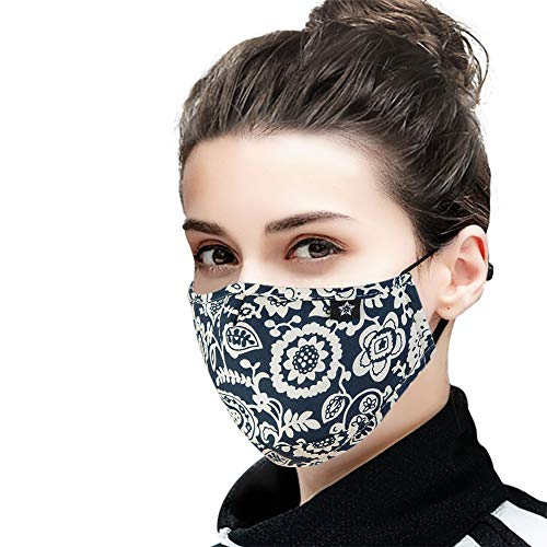 Cotton Face Mask for Running,Traveling,Cycling Washable Reusable Windproof Mask