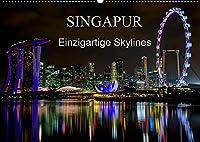 Singapur - Einzigartige Skylines (Wandkalender 2022 DIN A2 quer): Beeindruckende Aufnahmen einer asiatischen Metropole (Monatskalender, 14 Seiten )