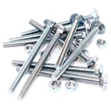 M6 (6 mm x 80 mm) Vierkant-Schlossschraube und Mutter, Stahl (10 Stück)