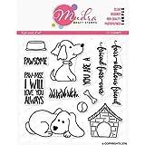 "Mudra Stamps - Furry Friend -""4x4""Clear Art & Craft Photo Polymer Stamp Set"