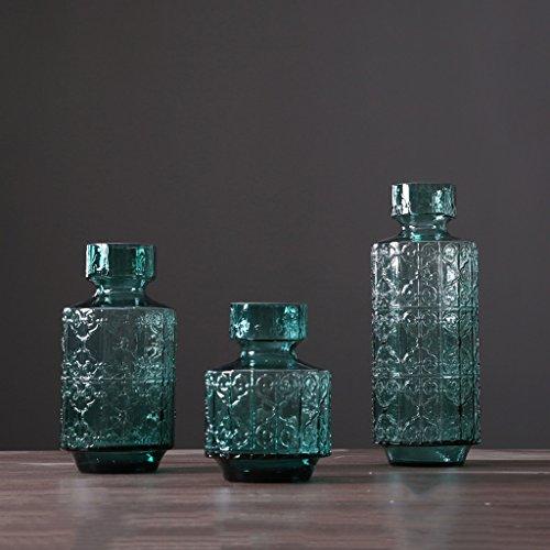 Vaas 3 Stks Relief Glas Moderne Woonkamer Eettafel TV Kabinet Decoraties,Liuyu·Life Home