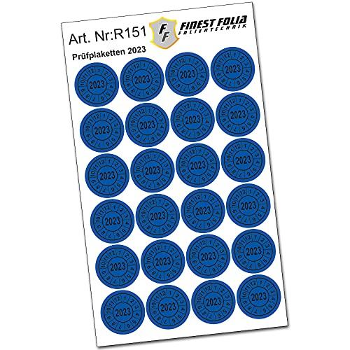24 Stück Prüfplakette Prüfsiegel Ø20mm Aufkleber Jahresplakette UVV BGV D27 BGR (Jahr 2023)