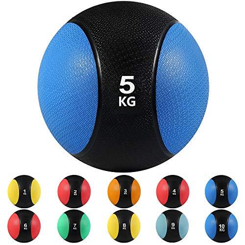 arteesol Balones medicinales, 1, 2, 3, 4, 5, 6, 7, 8, 9, 18 kg Balones de Peso Muerto Grip Entrenamiento de Fuerza y acondicionamiento, Cardio y Core