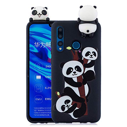 Compatible with Enjoy 9s Case,HongYong Cute 3D Cartoon Pattern Cute Animal Case Soft Silicone Case Girls Boys Fun Special Phone Case Shockproof Case for Huawei Enjoy 9s - Panda Climbing Tree