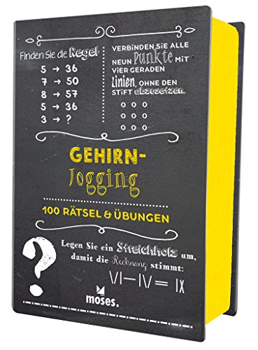 moses. Verlag GmbH Quiz-Box Gehirnjogging: 100 Rätsel & Übungen: 100 Rätsel und Übungen (Quiz-Boxen)