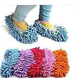 Onsinic Zapato De La Fregona Cómodas Zapatillas Zapatillas Paños Lazy Fregona Zapatillas Multifunción Limpieza del Piso Covers Caps Cleaner Pelo Calcetines