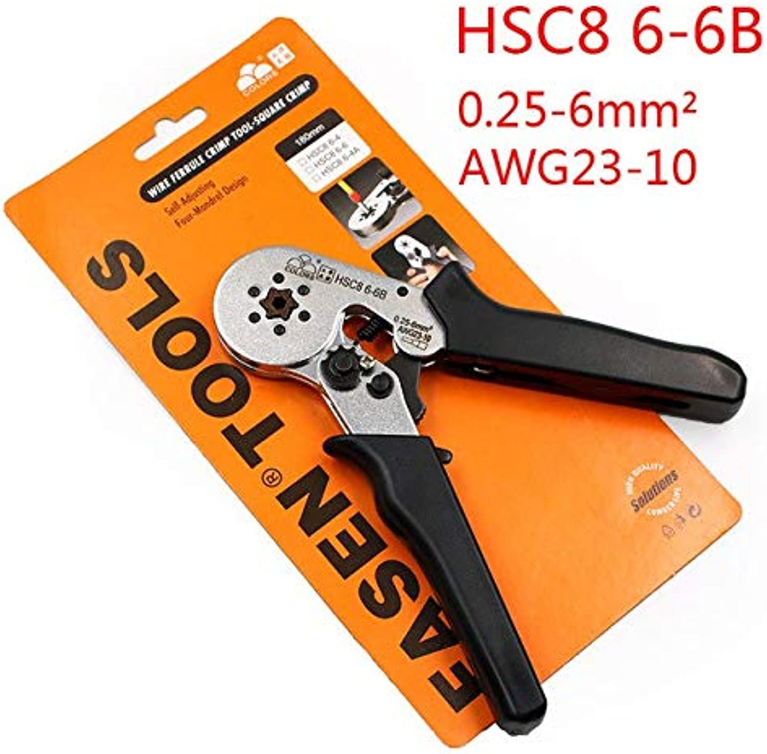 HSC8 6-6 0.25-6mm 23-10AWG Adjustable Hexagon Tube Bootlace VE Terminal Connectors Crimping Pliers Crimp Hand Tools Ferramentas   B