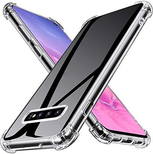 Joyguard Coque Compatible avec Samsung Galaxy S10, Silicone Antichoc Bumper TPU Souple Anti-Rayures Protection Housse Compatible avec Samsung Galaxy S10 - Transparent