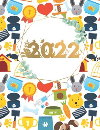 20 22: Monatsplaner 2022 Planer Monatlicher Agenda Familienplaner großer Kalender Planungsbuch | Ein Monat zur Ansicht - Organizer Planung Überblick für Planen und Organisieren | 21,59 x 27,94 cm