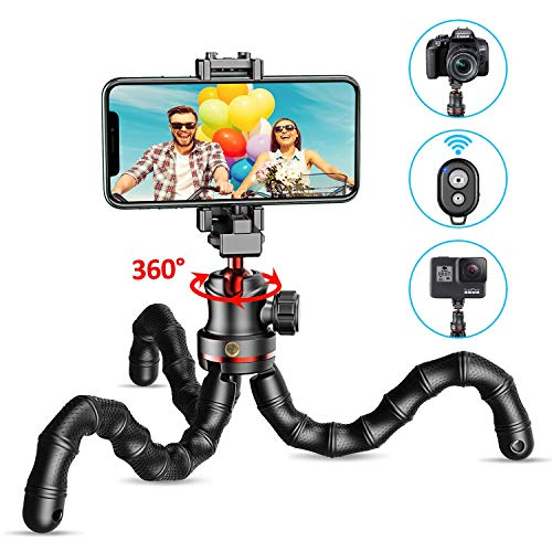 puissant Trépied pour smartphone Kokoda, trépied selfie flexible, mini trépied portable avec gâchette…