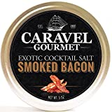 Smoked Bacon Exotic Cocktail Salt - All-Natural Glass Rimmer & Finishing Sea Salt, Slowly Smoked & Infused with Bacon - No MSG, Non-GMO, Gluten-Free - 5 oz. Stackable Tin