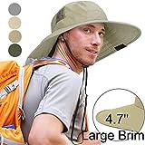Sun Blocker Unisex Outdoor Safari Sun Hat Wide Brim Boonie Cap with Adjustable