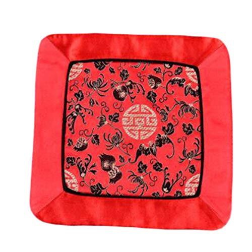 Wukong Paradise Damask Broderie Coaster Mat Tapis Tapis De Thé Chemin De Table Accessoires De Thé-A11