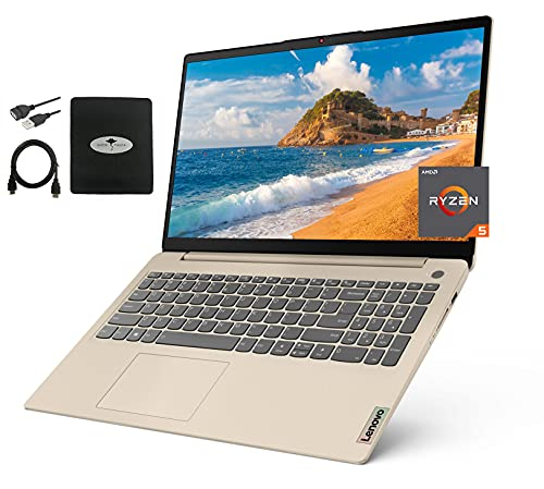 """2021 Newest Lenovo Ideapad 3 15.6"""" FHD Laptop, AMD Ryzen 5 5500U(up to 4.0GHz), 20GB RAM 512GB NVMe SSD, AMD Radeon 7 Graphics, up to 12 Hours, Webcam HDMI Win 10 Home, w/Ghost Manta Accessories"""