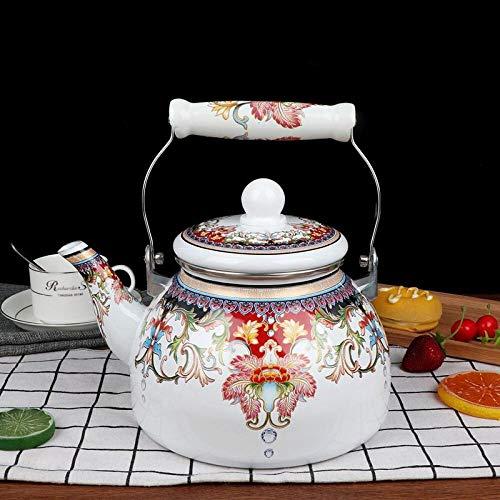 Esmalte Pure Enamel Bubble Teap Enamel Coffee Pot Olla de fuego abierto Cocina de inducción Tetera2.8L,4L