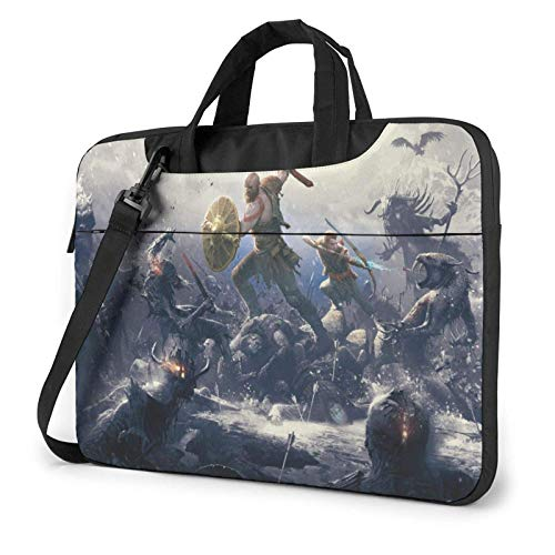 shenguang Go-d War Laptop Shoulder Messenger Bag Case Sleeve for (13 Inch 14 Inch 15.6 Inch) Durable and Lightweight Portable Laptop or Ipad Tablet Case Laptop Briefcase 14 inch