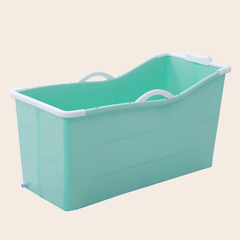 DEI QI Adult Folding Portable Insulation Bathtub Adult Plastic Bath Tub Food Grade Non-toxic Soft Material (color   Green)